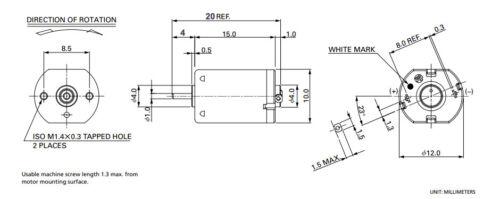 2pcs FF-N20 DC3-6V 20000-40000 tr//min Mini Précieux Brosse Moteur Pour Robot Smart Lock