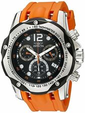 Invicta 52mm Men's 20072 Speedway Chronograph Orange Watch with 1 Slot Case