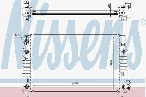 NISSENS 62105 Kühler Motorkühlung Auto