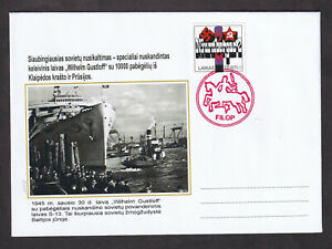 "Lithuania Tragedy in Baltic Sea 1945 ""Wilhelm Gustloff"" Cover FILOP"