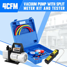 New Listing4cfm Vacuum Pump Hvac Ac Manifold Gauge Leak Detector R12 R22 R134a R410a