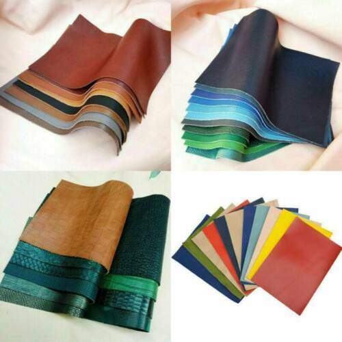 Thick Premium Genuine Leather Pieces Fabric Material Clothing Upholstery 20x30cm