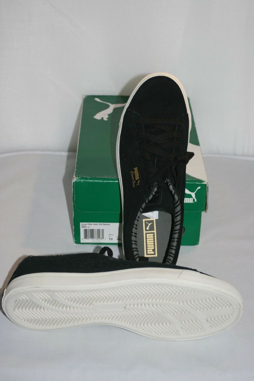 41a586f6c404 PUMA Mens Court Star Vulc Citi Series Fashion SNEAKERS Size 11 Black ...
