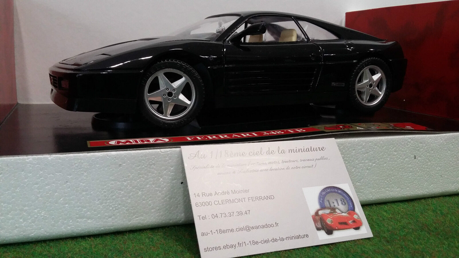 FERRARI 348 TB black échelle 1 18 fabri MIRA 6109 voiture miniature de collection