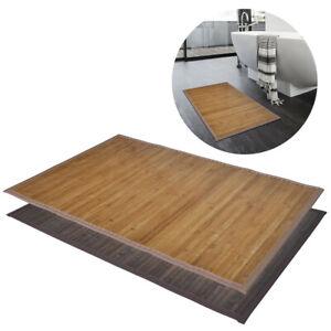 tapis de bain salle de bains en bambou antid rapant marron. Black Bedroom Furniture Sets. Home Design Ideas
