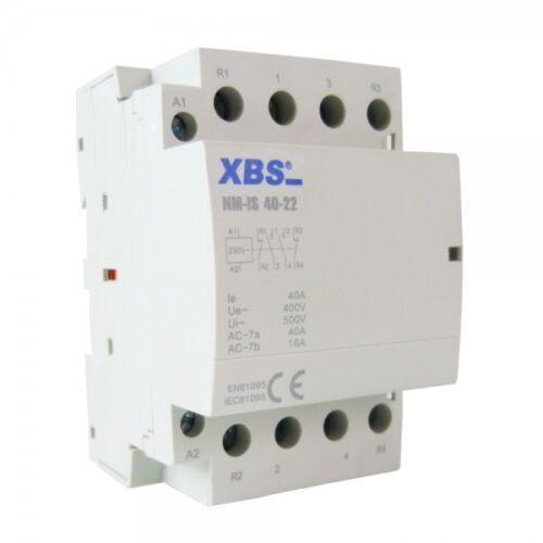 Modular Leistungsschütz Schütz 25A 4kW 230V AC 2NO 2NC 35mm DIN XBS 5220