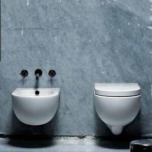 Costo Bidet Ceramica.Dettagli Su Sanitari Sospesi Azzurra Nuvola In Ceramica Prezzo Wc Bidet E Sedile Softclose