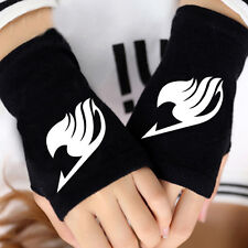 New Anime Fairy Tail Cosplay Gloves Warm Fingerless Mitten Cotton Knitted Gloves