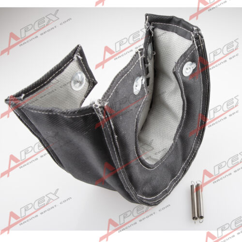 T6 T88 Durable Exhaust Turbo Turbine Housing Blanket Wrap Heat Shield Black