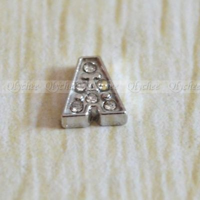1p New Initial Letter A Floating Locket Charms For Living Memory Floating Locket