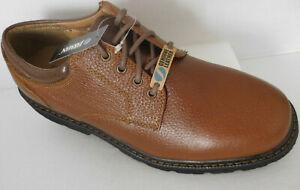 jarman men's brown leather casual plain oxford shoes