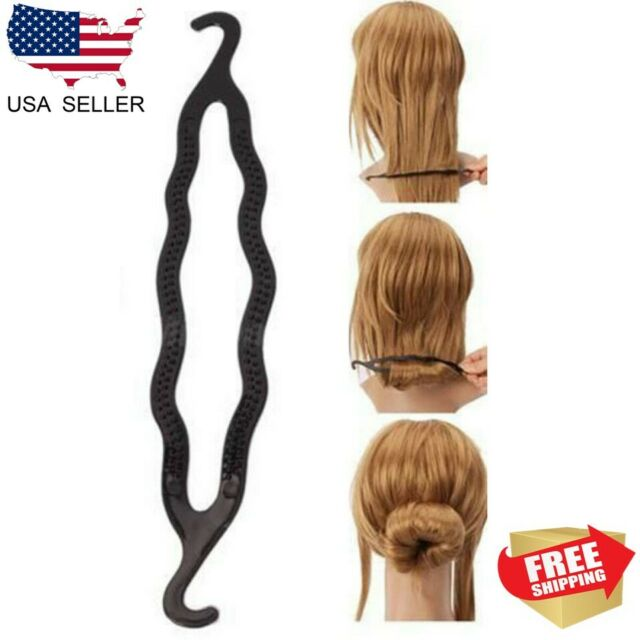 10Pcs Fashion Hair Twist Styling Clip Stick Bun Maker Braid Tool Accessories VH