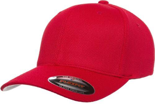 6577CD Flexfit Cool /& Dry Pique Mesh Custom Hat Baseball Cap Flex Fit Fitted Lid
