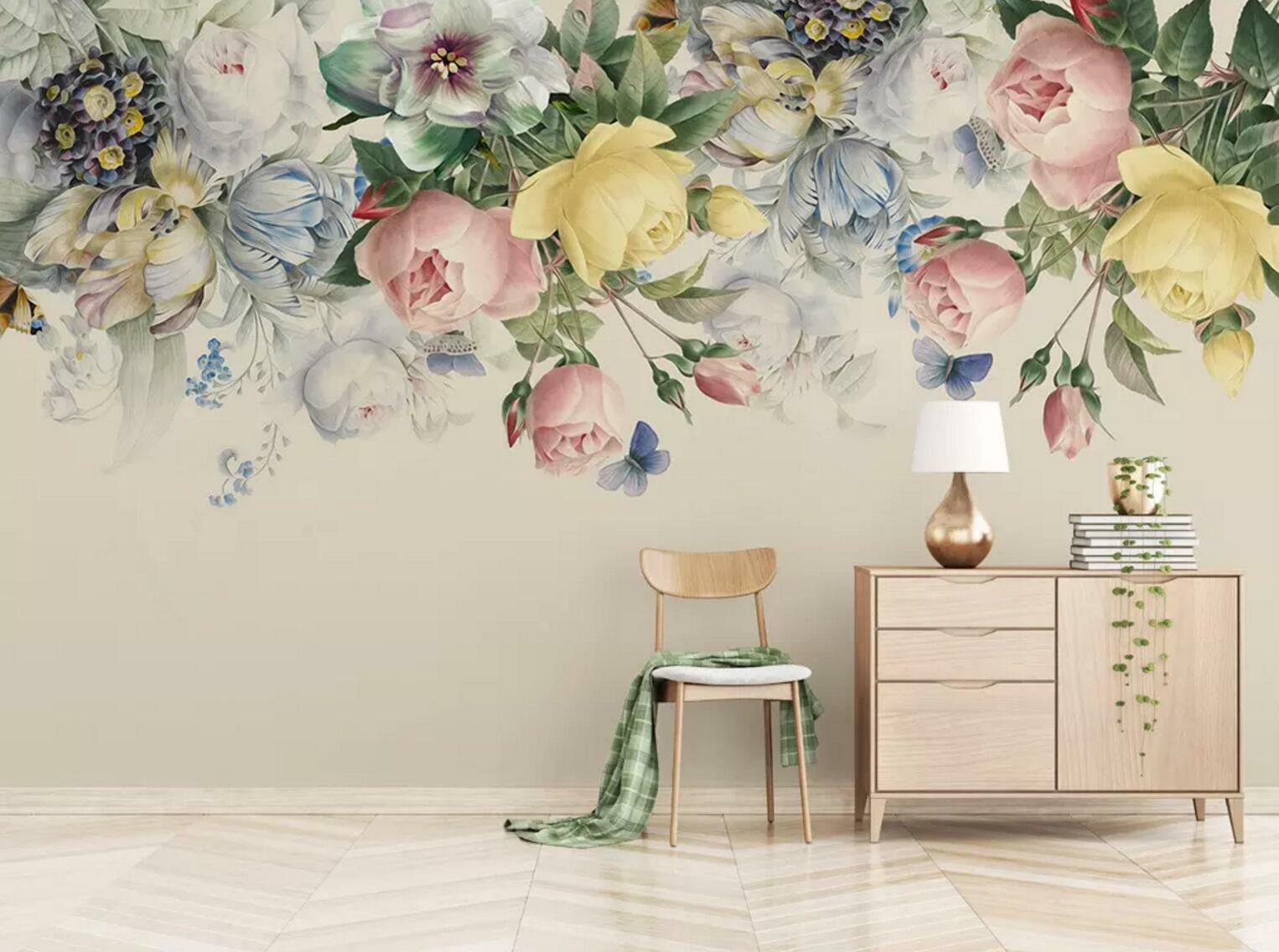 3D Farbe Rose Vine 45 Wall Paper Exclusive MXY Wallpaper Mural Decal Indoor wall