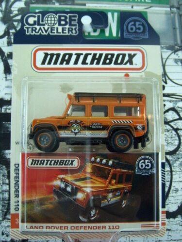 /'17 MATCHBOX LAND ROVER DEFENDER 110 NEW IN BOX Globe Travelers Series