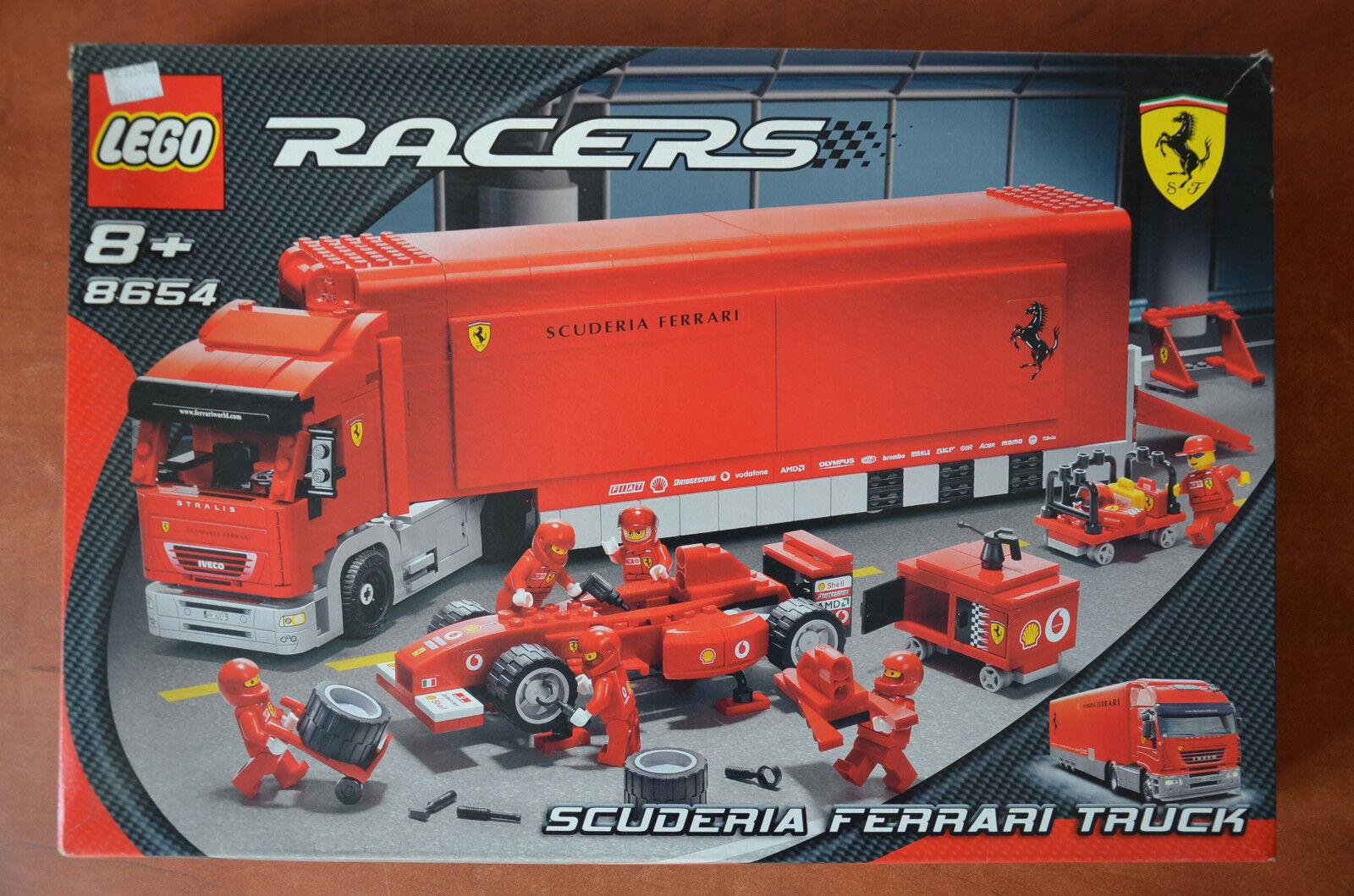 LEGO 8654 RACERS Scuderia Ferrari Truck Truck Truck - complete with manual and original box aebf46