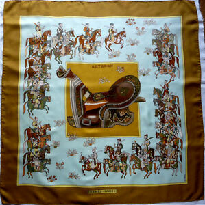 Foulard Hermes Carre En Soie Artaban P Peron Silk Scarf