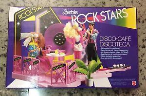 Rationnel 1986 Barbie Rock Stars Disco Cafè Discoteca Mattel Inc., Nuovo Sigillato Origin.