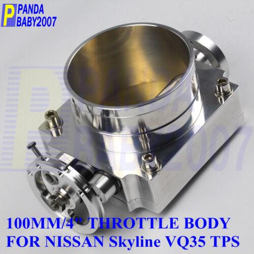 "4/"" 100MM HIGH FLOW THROTTLE BODY FOR NISSAN SKYLINE VQ35 350Z Z33 TPS RACE SL"