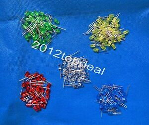10-100-1000pcs-5mm-diode-2pin-Round-white-red-blue-green-yellow-LED-lamp-light