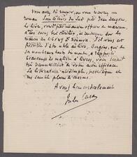 Jules Richard Case (1854-1931) French novelist, Journalist and Critic Autograph