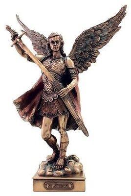 "13.75""  Archangel Michael Statue Figurine Figure Religious San Saint Angel St"