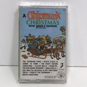 VTG-1985-A-Chipmunk-Christmas-Cassette-Tape-Music-Alvin-amp-Chipmunks-NOS-Sealed