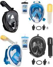 Gafas de buceo mascara Snorkel antivaho,soporte GoPro,tubo plegable,bolsa, S/M
