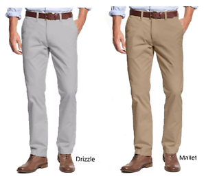 Tommy-Hilfiger-Men-039-s-Tailored-Fit-Flat-Front-Chino-Pants-Drizzle-or-Mallet