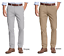 Tommy-Hilfiger-Men-039-s-Tailored-Fit-Flat-Front-Chino-Pants-Drizzle-or-Mallet thumbnail 1