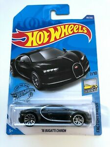 HOT-WHEELS-2020-039-16-Bugatti-Chiron-BLACK-89-250-Factory-FRESH-7-10-Diecast-ghc02