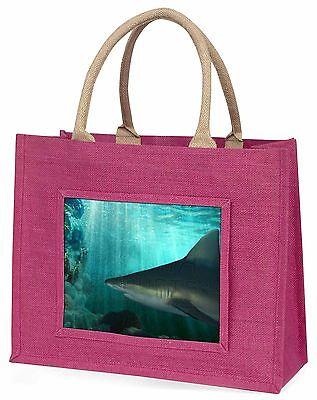 Shark Foto Große Rosa Einkaufstasche Weihnachten Geschenkidee, AF-SHA1BLP