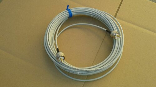 US MADE BELDEN RG-58 PLENUM  PL259 UHF to PL259 HAM CB VHF   50 ohm cable 25 FT