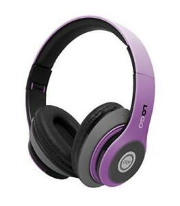iJoy Matte Rechargeable Wireless Bluetooth Foldable Over Ear Headphones with