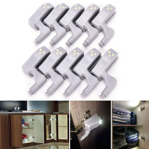LED Smart Sensor Light Kitchen Cabinet Cupboard Wardrobe Hinge Lights LOT d6
