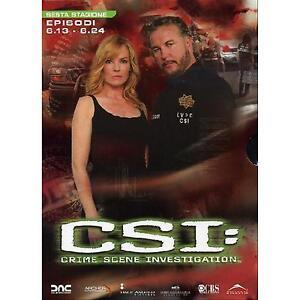 DVD-CSI-Scena-del-Crimine-6-Sesta-Stagione-Episodi-6-13-6-24-Cofanetto-Serie-TV