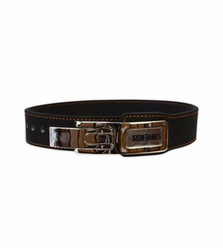 """PRO 2/"""" LEVER LEATHER BENCH PRESS BELT POWER LIFTING GYM WEIGHT S039 BLACK"""