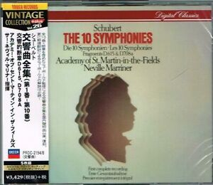 Schubert-The-10-Symphonies-Neville-Marriner-Japan-5CD-NEW-SEALED-Tower-Records