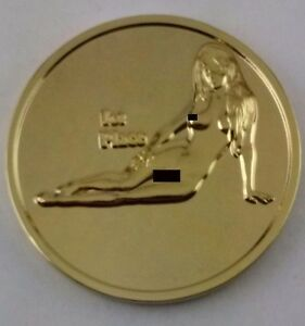 Chicken Choking Champion-Nude Challenge Coin-Gold Proof Finish