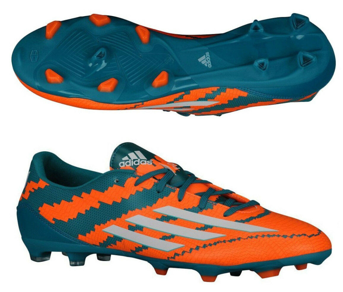 ADIDAS MESSI F10.3 FG FIRM GROUND SOCCER schuhe Power Teal Core Weiß Solar