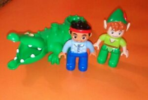 Lego-DUPLO-Jake-und-die-Nimmerland-Piraten-Figuren-Jake-Robin-Hood-Krokodil