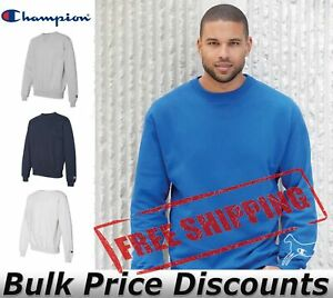 Champion-Mens-Cotton-Max-Crewneck-Sweatshirt-Pullover-S178-up-to-3XL