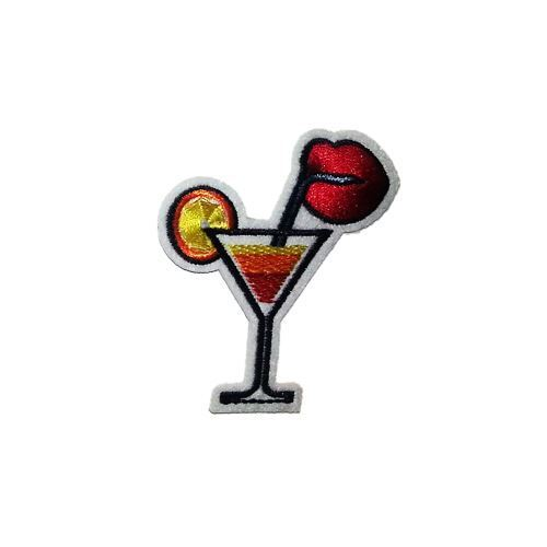 Cocktail Orange Embroidery Applique Patch Sew Iron Badge Iron on