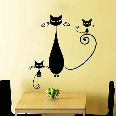 CATS WALL DECALS VETERINARY PETS SALON DECAL VINYL STICKER BEDROOM DECOR  N299