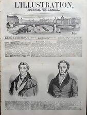 L'ILLUSTRATION 1845 N 147 PORTRAITS DE LORD WELLINGTON et LORD PALMERSTON