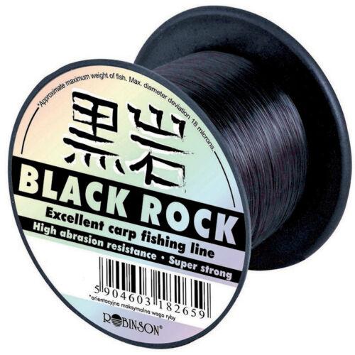 Stärken Karpfen Robinson Black Rock 600m  monofile Angelschnur Schnur versch