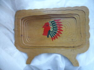 Vintage-Hand-Made-Collapsible-Wooden-Bowl