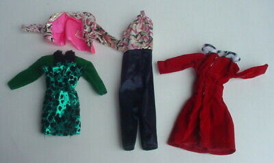 OUTFIT MATTEL BARBIE HOLIDAY MEMORIES DOLL SATIN DRESS FAUX FUR JACKET COAT HAT