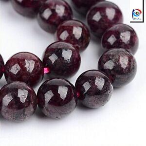 Natuerliche-Garnet-Granat-Perlen-Winrot-4mm-Edelsteine-Schmucksteine-BEST-G48