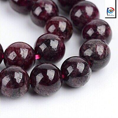 Natürliche Garnet Granat Perlen Winrot 4mm Edelsteine Schmucksteine BEST G48
